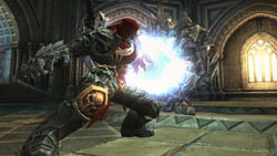 War using an magical ability on an enemy in 'Darksiders'