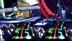 Multiplayer action in DJ Hero