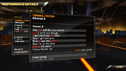 Performance analysis screen from Def Jam Rapstar