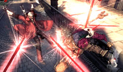 Dante going to style points with the Lucifer weapon