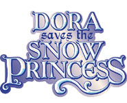 'Dora the Explorer: Dora Saves the Snow Princess' game logo  for DS