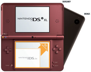 Nintendo DSi XL Burgundy and Bronze color variations