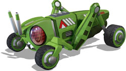The Grasshopper bot from 'ExciteBots: Trick Racing'