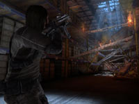 Point Man targeting an enemy in F.E.A.R. 3
