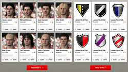 Player selection screen from FIFA Soccer 11
