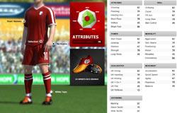 Player customization screen from FIFA Soccer 11