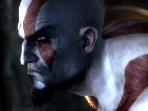 Kratos de profile dans God of War III