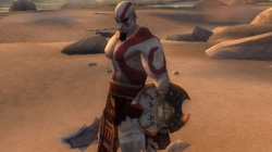 Kratos on the shores of Attica