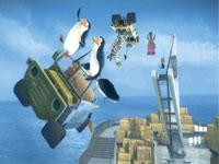 The penguins take their kart to the air in Madagascar Kartz for DS and DSi