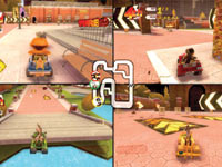 4-player split-screen multiplayer in Madagascar Kartz for DS and DSi