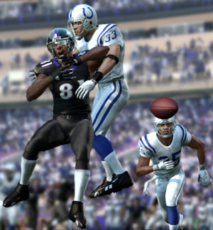 Battle for the ball in the secondary from Madden NFL 11