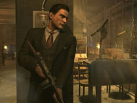 Vito with a Tommy gun in Mafia II