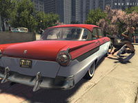Using the car as a weapon in Mafia II