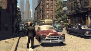 City street scene from Mafia II