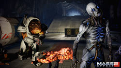 Taking aim at evil zombie thingie in Mass Effect 2