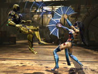 Graphically detail fatalities in Mortal Kombat
