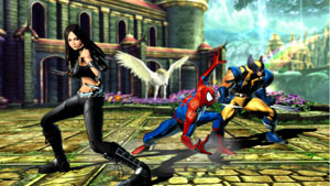 X-23, Spider-Man and Wolverine ready for action as a team in Marvel vs. Capcom 3: Fate of Two Worlds