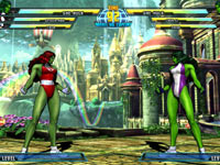 She-Hulk vs. She-Hulk from Marvel vs. Capcom 3: Fate of Two Worlds