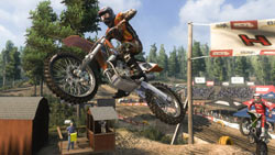 Catching air in a motocross race in MX vs. ATV: Reflex