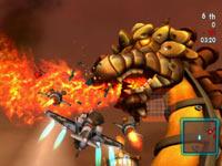 Fire-breathing boss battle from MySims SkyHeroes