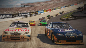Fighting for the lead in NASCAR The Game 2011