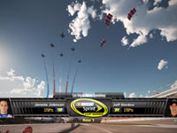 Jimmie Johnson and Jeff Gordon racing at the Las Vegas Motor Speedway in NASCAR The Game 2011