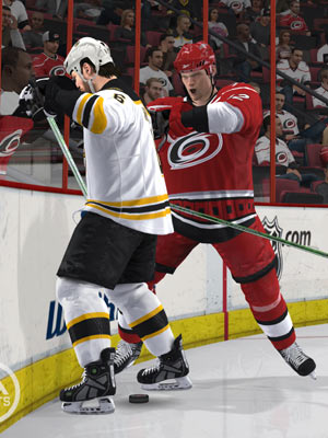 Intimidation tactics on the ice in 'NHL 10'