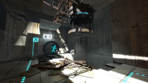 An old test chamber from Portal 2