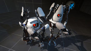 Atlas and P-body from Portal 2