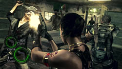 Co-op gameplay in close quarters in Resident Evil 5 Gold Edition
