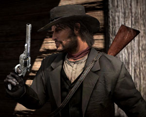 John Marston packing heat in Red Dead Redemption