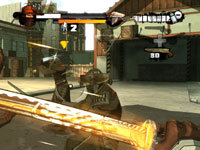 Blocking bullets with a katana in Red Steel 2