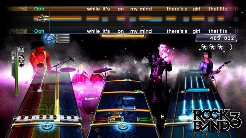 Rock Band 3 notation