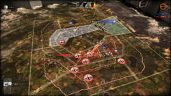 Map showing in-game faction ruse events in play in R.U.S.E.