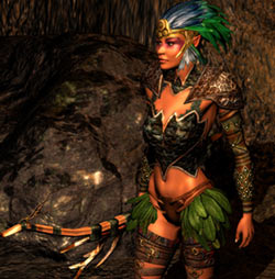 A Dryad striking a pose in 'Sacred 2: Fallen Angel'