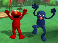 Active gameplay by Elmo and Grover from Sesame Street: Ready, Set, Grover!
