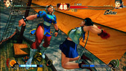 Sakura and Chun-Li in 'Street Fighter IV'