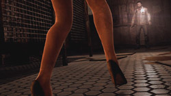 Legs of the very scary nurses in 'Silent Hill: Homecoming'