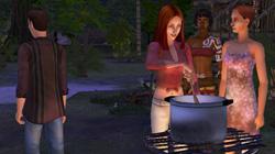 A Sims beach party