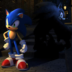 Sonic and his alter ego Werehog in Sonic Unleashed