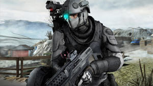 Hero shot of one of the Ghosts in Tom Clancy's Ghost Recon: Future Soldier