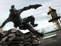 Diving for cover in Tom Clancy's Ghost Recon: Future Soldier