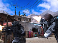 Co-op gameplay screen from Tom Clancy's Ghost Recon: Future Soldier