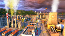 A close-up of an industrial site in Tropico 4