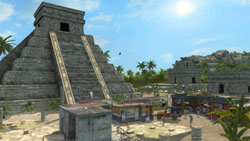 A mix of old and new architecture in Tropico 3
