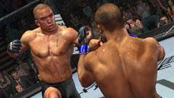 A punch oriented standing game in 'UFC 2009 Undisputed'