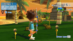 Archery game from Wii Sports Resort