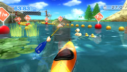 Kayak race game from Wii Sports Resort