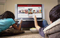 Netflix instant streaming functionality via Wii