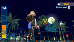 Basketball game from Wii Sports Resort